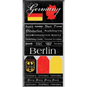 Germany Scratchy Scrapbook Stickers