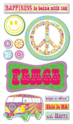 Peace Happiness Love Friendship Chipboard Scrapbook Stickers