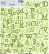 Heidi Grace Designs Alphabet Cardstock Stickers - Vineyard