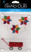 Summer Fun Stand-Outs Quilled Scrapbook Stickers