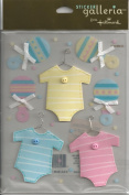 Baby Clothing and Rattles Dimensional Scrapbook Stickers