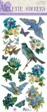 Violette Stickers Bluebird & Flowers