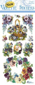Violette Stickers Pansy Wreaths