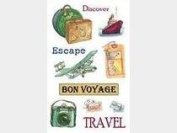 Travel Icons Rub-ons for Scrapbooking