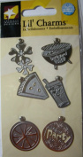 Summer Silver Lil' Charms for Scrapbooking