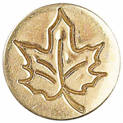 Manuscript Decorative Wax Sealing Coin Seal - Leaf