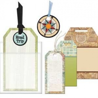 Road Trip Tags for Scrapbooking (EM1151)