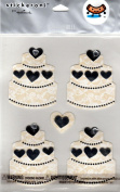 Wedding Cake Dimensional Scrapbook Stickers