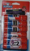 Elmer's Disappearing Purple School Glue Sticks, 5ml Each, 8 Sticks per Pack