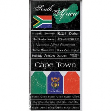 South Africa Scratchy Scrapbook Stickers (18330)