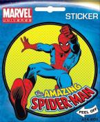 Spider-Man on Green Marvel Comics Die Cut Vinyl Sticker Decal