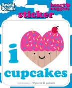David and Goliath - I Heart Cupcakes Die Cut Vinyl Sticker Decal