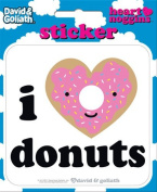 David and Goliath - I Heart Donuts Die Cut Vinyl Sticker Decal