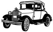 Clear stamp (5.1cm x 7.6cm ) FLONZ clingy acrylic stamp // Retro Car America Twenties 3