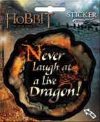 Hobbitt Desolation of Smaug - Never Laugh At a Live Dragon - Die Cut Vinyl Sticker Decal