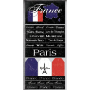France Scratchy Scrapbook Stickers