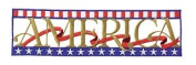 Sew Whats. Embroidered Embellishment AMERICA For Scrapbooking, Card Making & Craft Projects