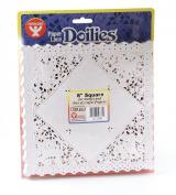 20cm Square White Paper Doilies