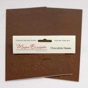CHOCOLATE KISSES CHIPBOARD ALPHABET STICKERS Megan Elizabeth New