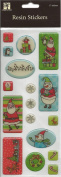 Holiday Icons Epoxy Christmas Scrapbook Stickers
