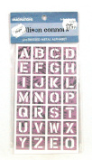 Creative Imaginations Allison Connors Distressed Metal Alphabet Letter Tiles Self Adhesive Pink & Chrome Colour Letters Scrapbook Embellishments