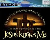 Jesus Knows Me Auto Car Decorative Sticker
