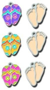 American Traditional Design Lil' Charms-Flip Flops & Feet