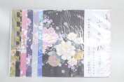 A Pattern of Japan Kimono Asian Themed Scrapbooking Paper