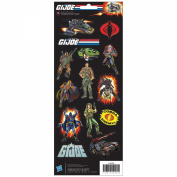 Cardstock Stickers 12cm x 30cm Sheet-G.I. Joe 1980's