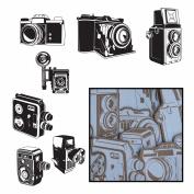 Kraft Die-Cuts 14/Pkg-Say Cheese Cameras 7 Styles/White