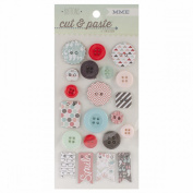 Cut & Paste Flair Decorative Chipboard Buttons-Snapshots