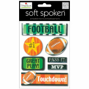 Soft Spoken Themed Embellishments-Ellen Krans - Football