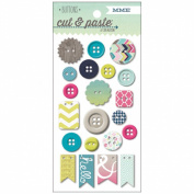 Cut & Paste Adorbs Decorative Chipboard Buttons-Loved