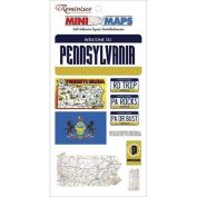 Mini Maps Self-Adhesive Epoxy Embellishments 4.5X8 - Pennsylvania