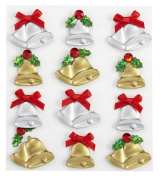 Jolee's Boutique Cabochons Christmas Bells Dimensional Stickers