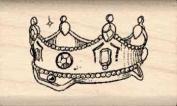 Crown Rubber Stamp - 1.9cm x 2.5cm - 0.6cm