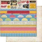 Nostalgia Double-Sided Cardstock 30cm x 30cm -Collage
