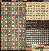 Graphic 45 Good Ol Sport 12x12 Scrapbook Alphabet Sticker Sheet