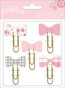 Pebbles 5-Piece Special Delivery Paper Clips with Bows