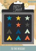 Crate Paper 12-Piece Boys Rule Resin Shapes