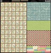 Graphic 45 Botanical Tea 12x12 Alphabet Scrapbook Sticker Sheet
