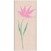 Paper Textured Flower Wood Mounted Rubber Stamp