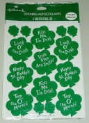 Hallmark St Patrick's Day IRISH SHAMROCK Stickers ~ Acid Free 1 Package of 4 sheets Retired & OOP