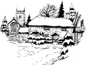 Art-Kure Cling Stamp, Throwleigh, Dartmoor