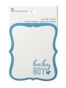 American Crafts Imaginisce My Baby Die-Cut Tag Pad, Boy