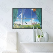 [Windmill Village] Decorative Wall Stickers Appliques Decals Wall Decor Home Decor