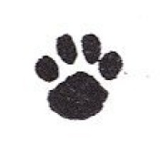Dog Rubber Stamp - Paw Print - (Tiny) Size