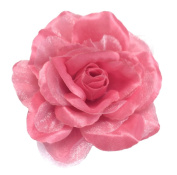 Cuteque International CQA106-COLONIAL PINK 3-Piece Packed Satin Organza Rose Embellishment, 10cm , Colonial Pink