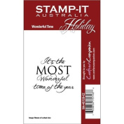 Stamp-It Holiday EZMount Cling Stamp Set-Wonderful Time