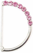 Jewelled D-Rings 2.2cm 2/Pkg Pink
